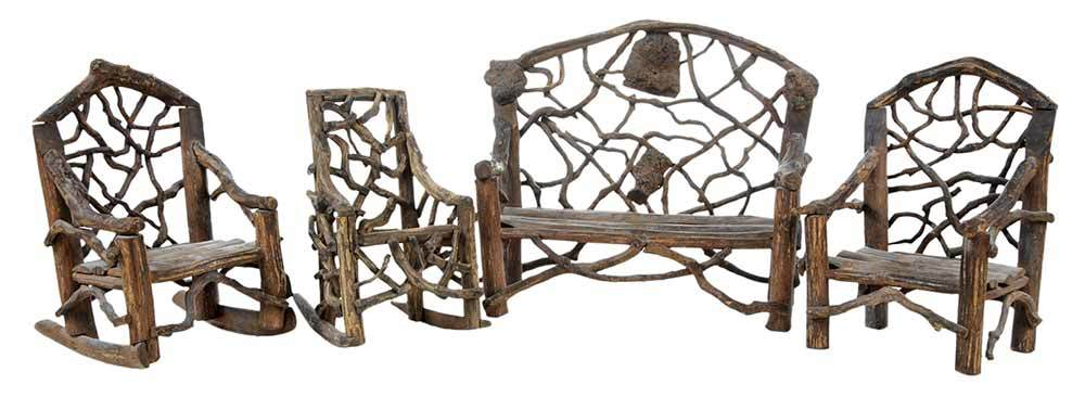 Miniature Twig Furniture For Sale
