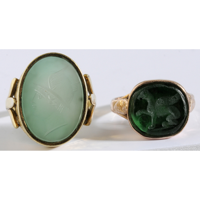 Two Gentleman's Intaglio Rings
