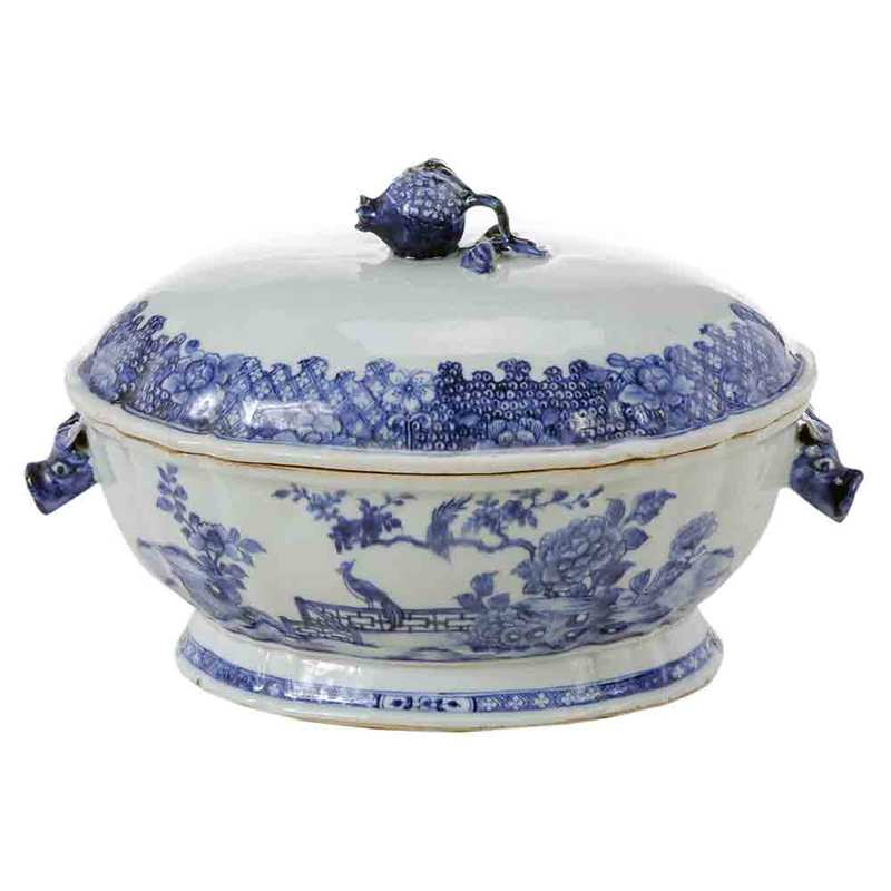 Chinese Export Porcelain Boar's Head Tureen