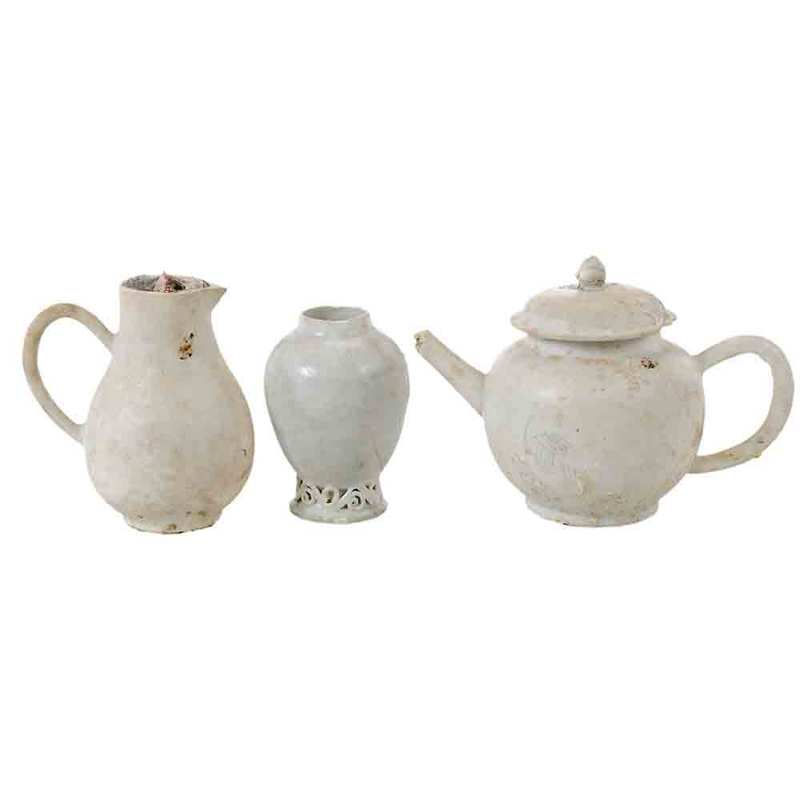 Three Nanking Cargo Porcelain Items