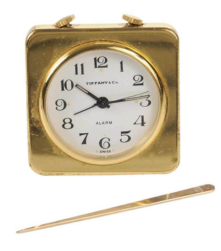 Tiffany & Co. Travel Alarm Clock and Toothpick