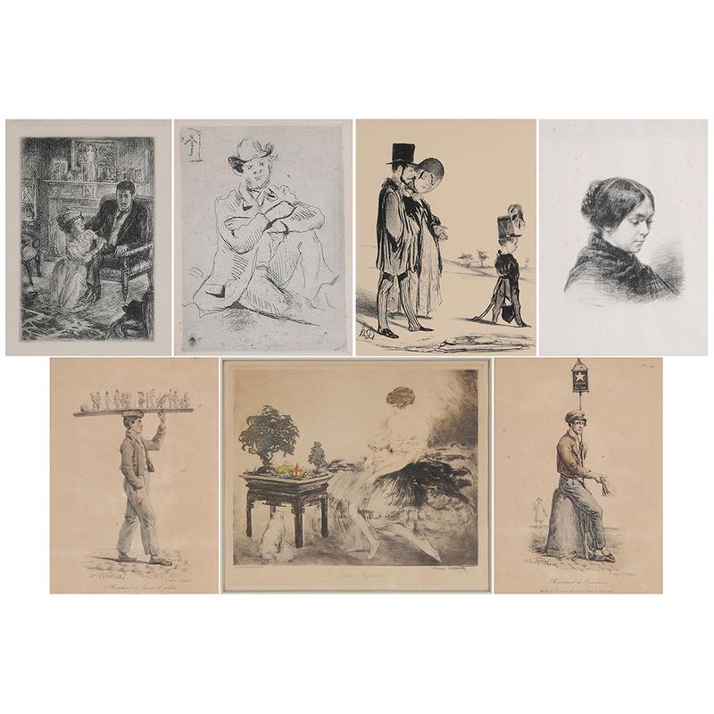 Seven Figural Prints