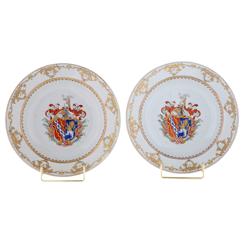 Two Chinese Export Porcelain Armorial Bowls circa 1755