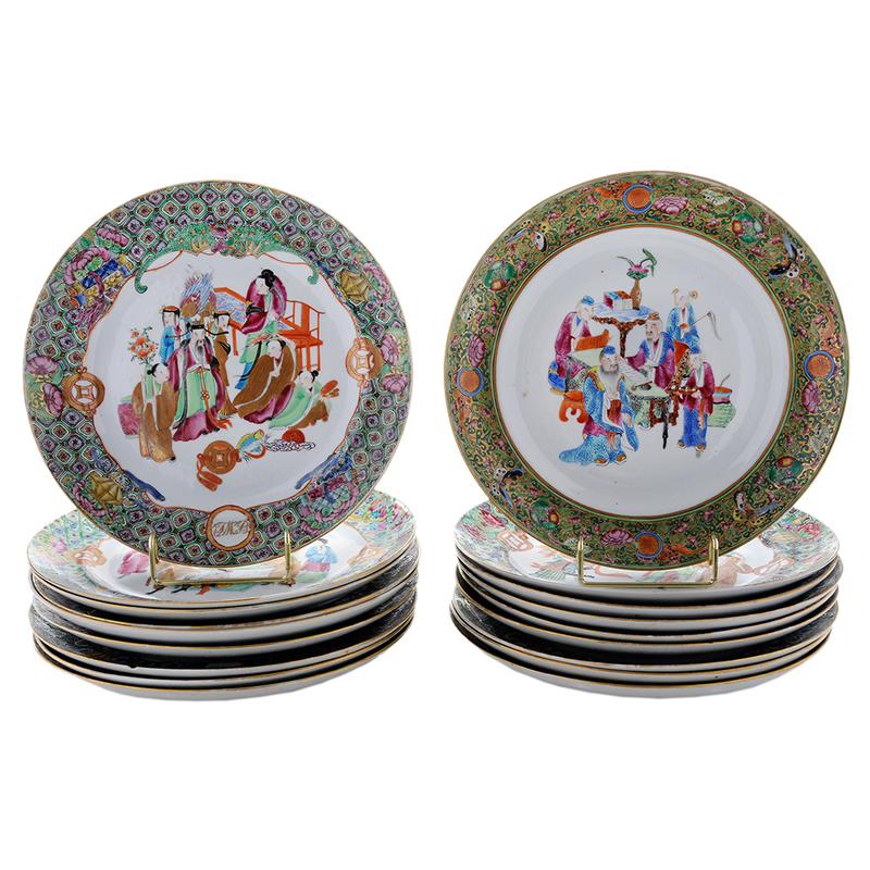 Group Eighteen Chinese Export Porcelain Plates