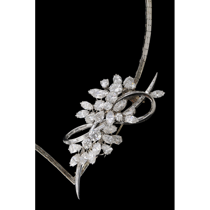 Platinum & Diamond Brooch*