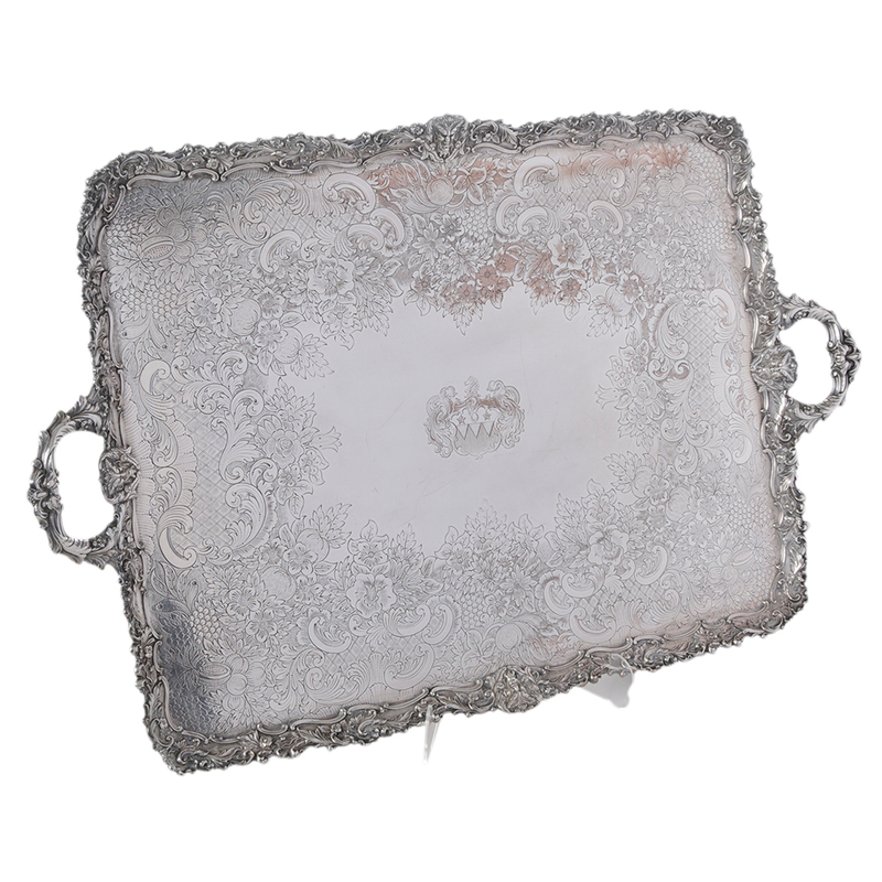 Large Silver Plated Tray
