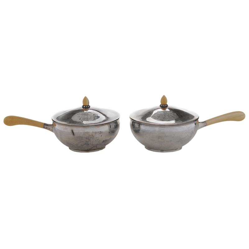 Pair Danish Covered Entr?e Dishes
