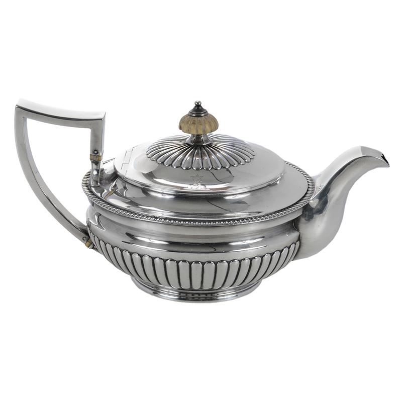 George III English Silver Teapot