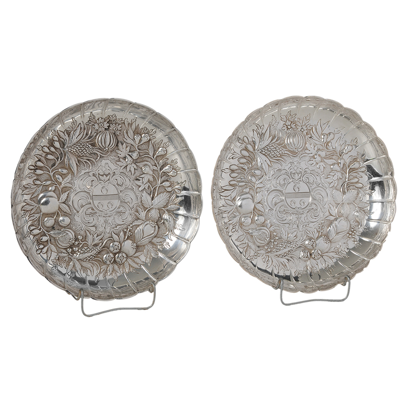 Pair of George III English Silver Dishes