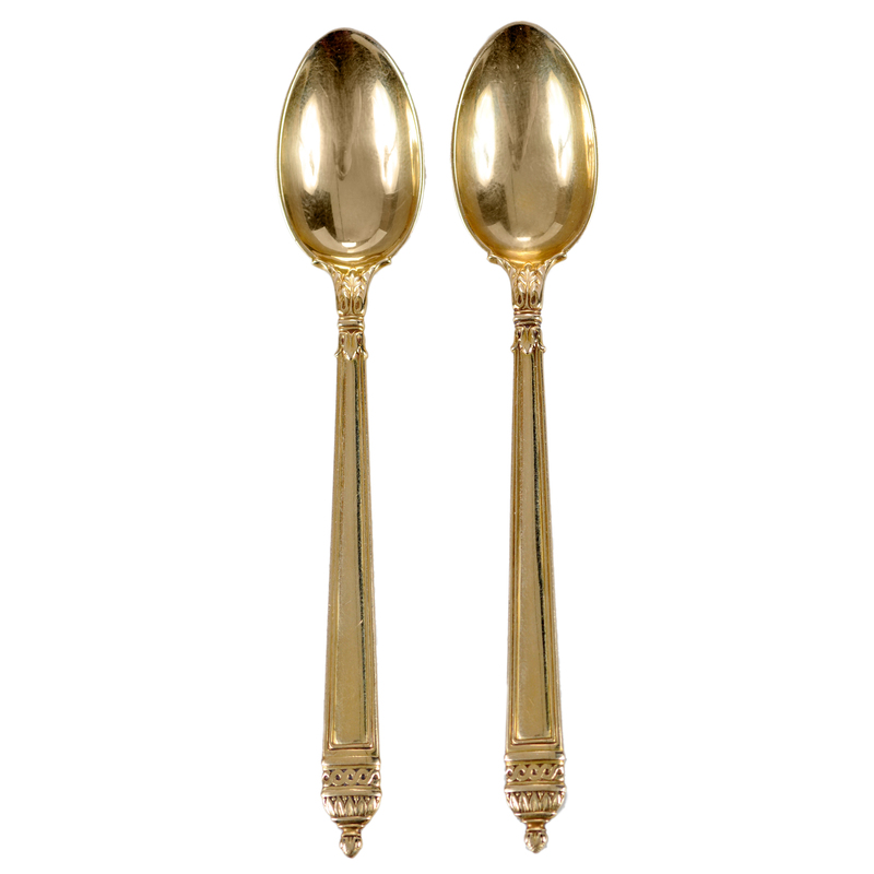 Two Tiffany 18kt. Yellow Gold Demitasse Spoons