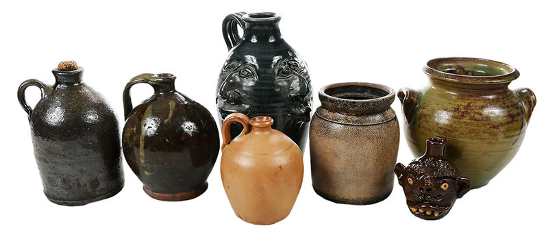 Seven Pieces Southern Pottery