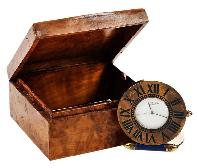 Vintage Cartier Paris Quartz Travel Clock