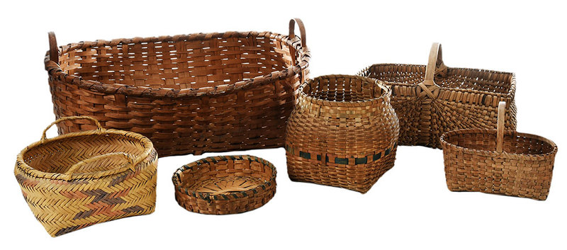 Five Assorted Baskets, Two Cherokee