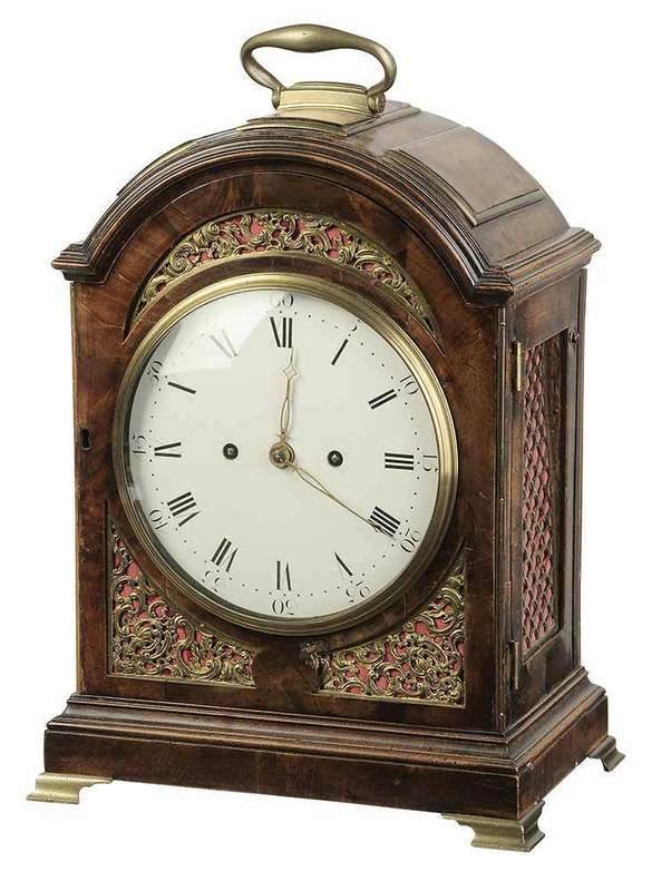George II Mahogany and Brass Bracket Clock