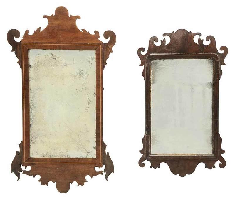 Two George III Mahogany Mirrors