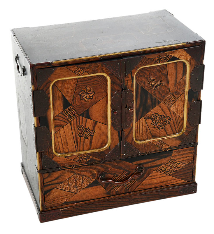 Japanese Marquetry Case