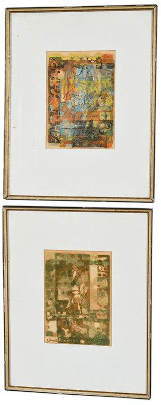 Two Modern Block Prints