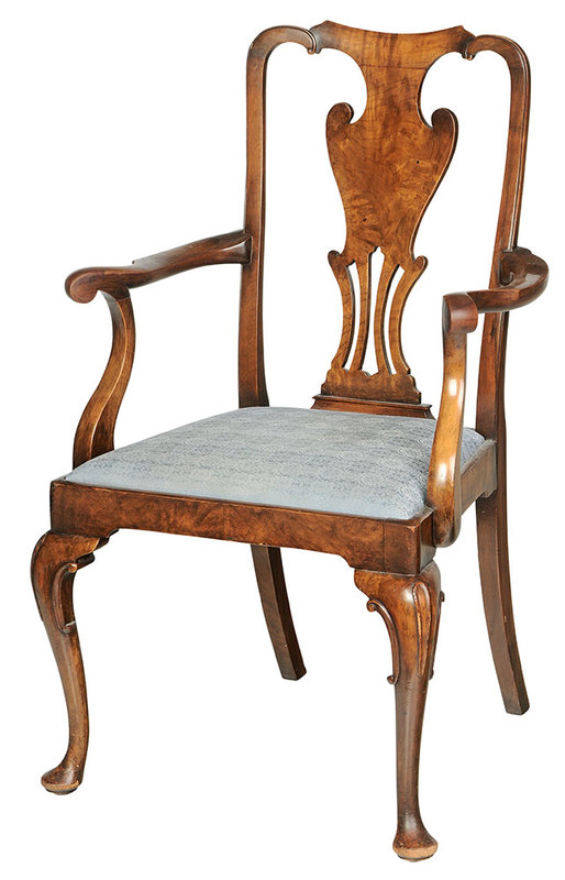 Georgian Style Mahogany Arm Chair