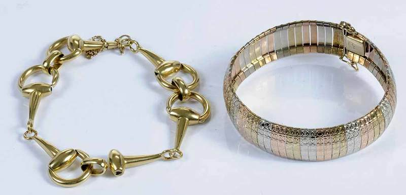 Two Gold Bracelets