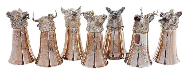 Twenty-Four Silver-Plate Stirrup Cups