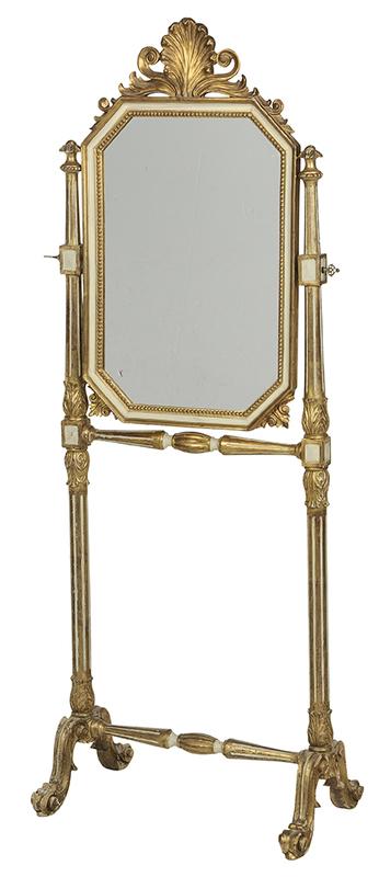 Italian NeoclassicalStyle Cheval Mirror