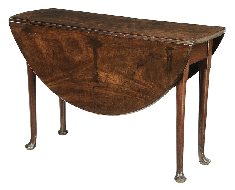 Queen Anne Solid Mahogany Drop Leaf Table