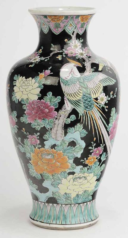 Famille Noire Vase
