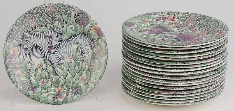 Set Nineteen Gien Plates