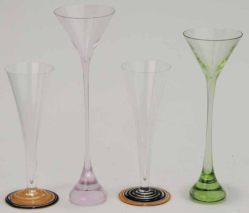 Four Drinking Vessels by Carlo Moretti and Baccarat