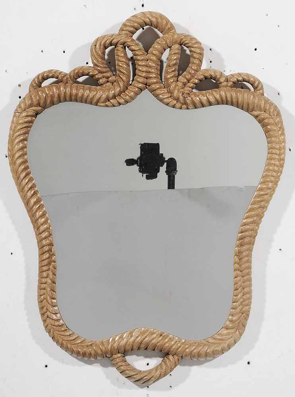 Wall Mirror with Carved Detail