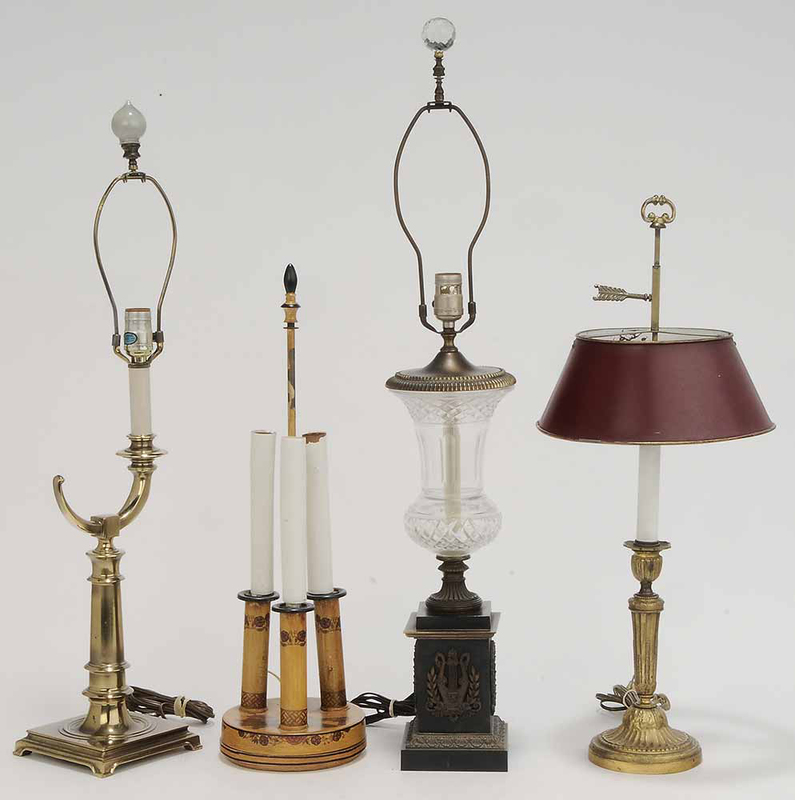 Group Four Metal Table Lamps