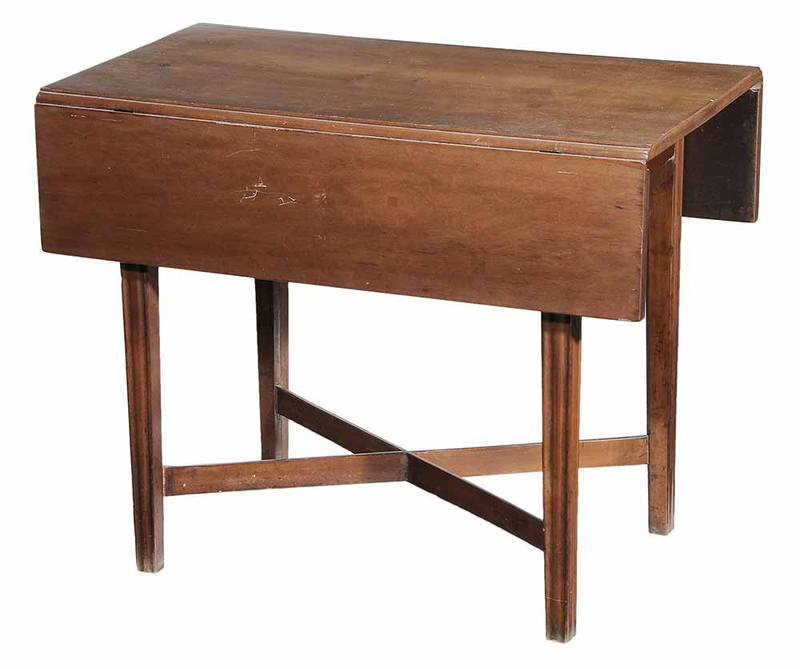 New England Chippendale Cherry Pembroke Table