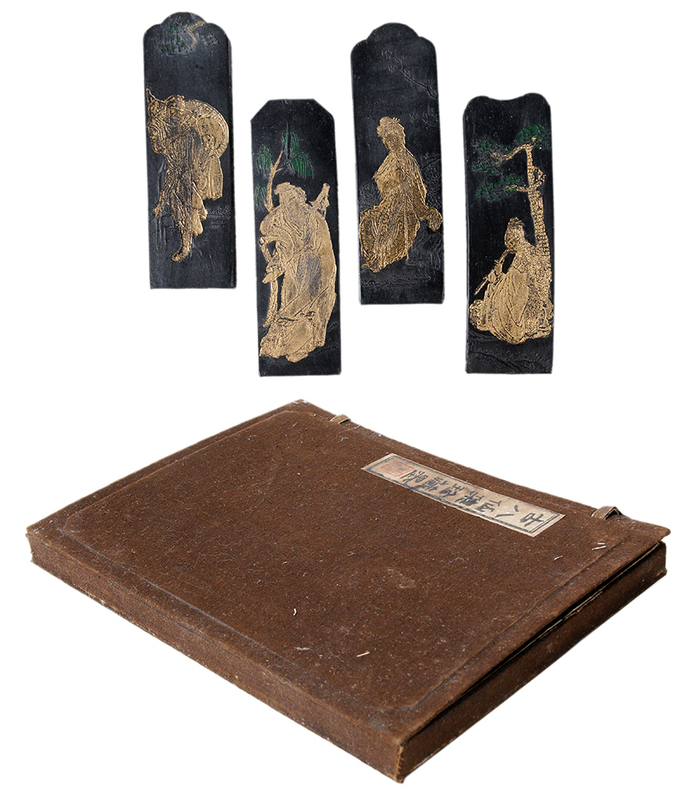 Boxed Set of Ink Stones - Eight Immortals