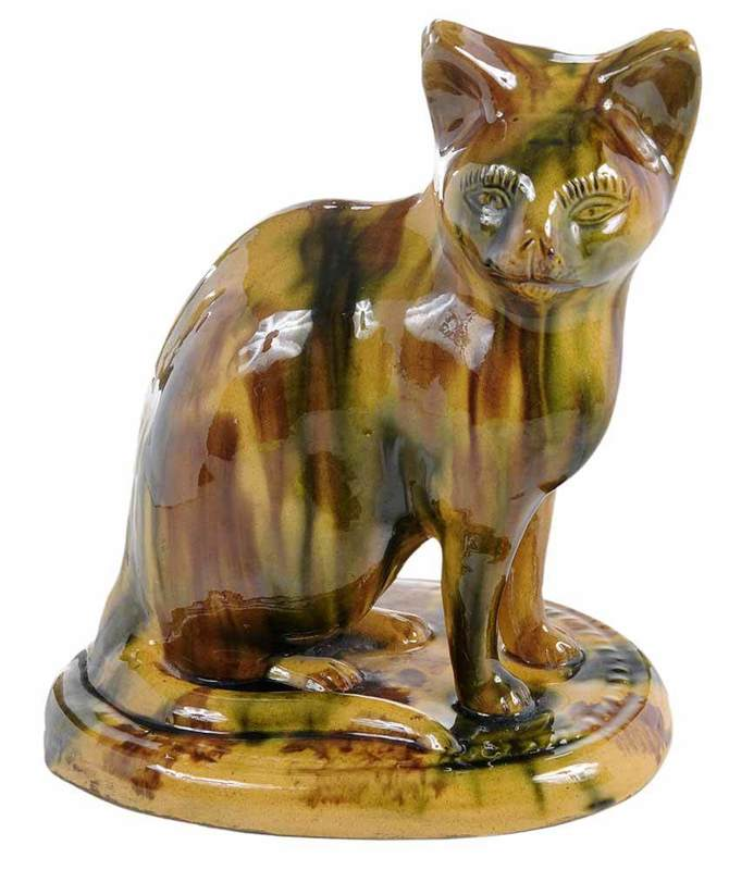Sponged English Pottery Cat