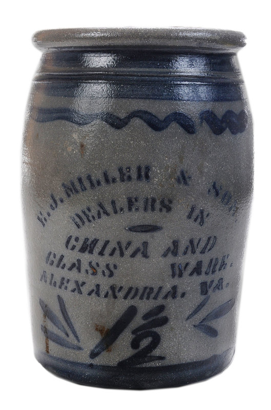 Salt Glaze Stoneware Advertising Jar