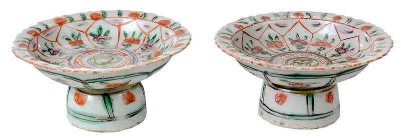 Pair of Chinese Porcelain Compotes