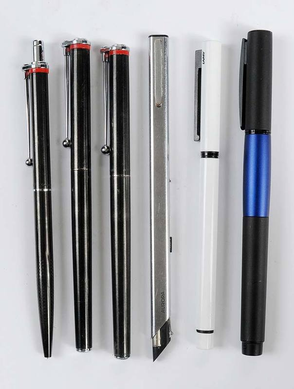 Six Pens & Mechanical Pencil