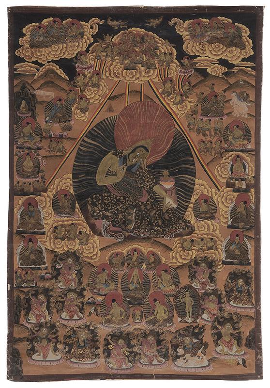 Hand-Painted [Thanka] of Fierce Deity