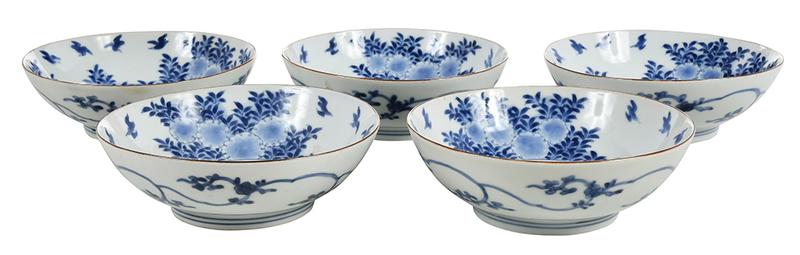 Set of Five Boxed Imari Bowls