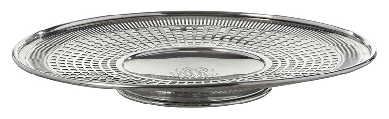 Sterling Openwork Footed Serving Plate