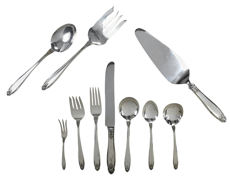 Prelude Sterling Flatware, 66 pieces
