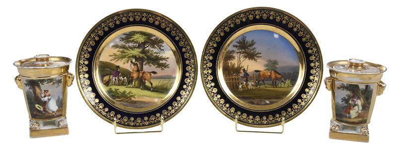 Four Scenic View Porcelain Pieces