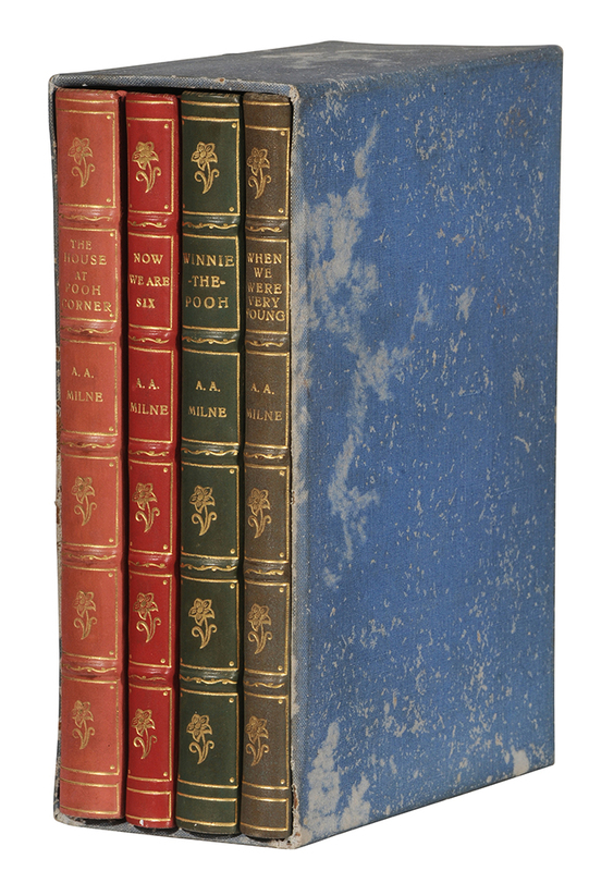 Set of Four Winnie the Pooh Books, Leather