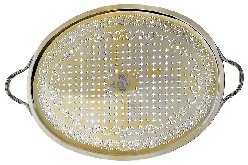 Paul Storr English Silver Pierced Mazarine/Tray