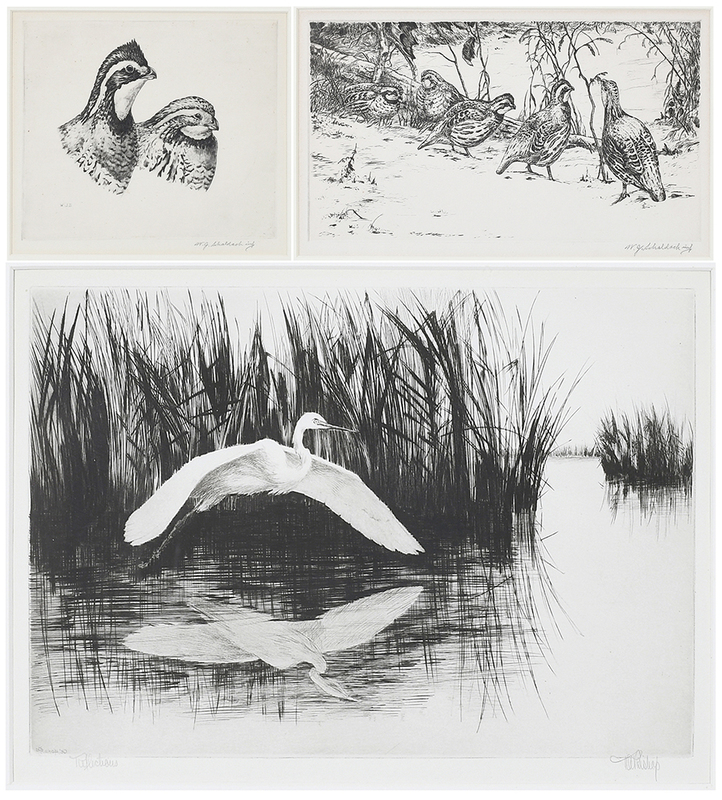 Three Sporting Etchings