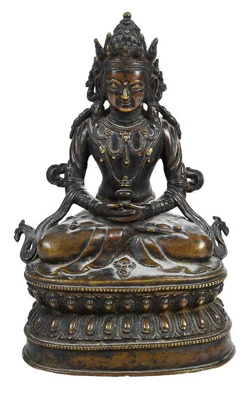 Tibetan Bronze Figure of Amitayus
