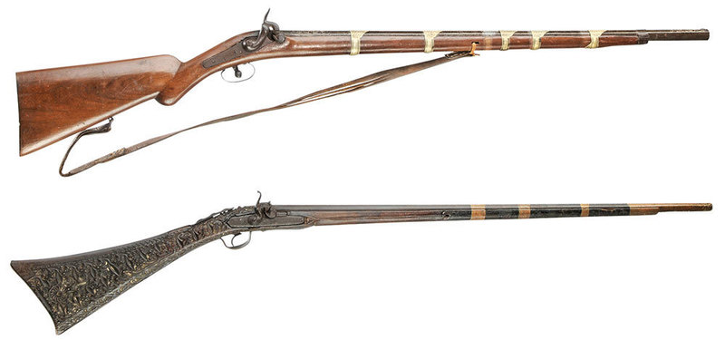 Two Highly Decorated Long Guns