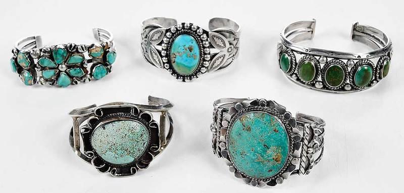 Five Southwestern Bracelets