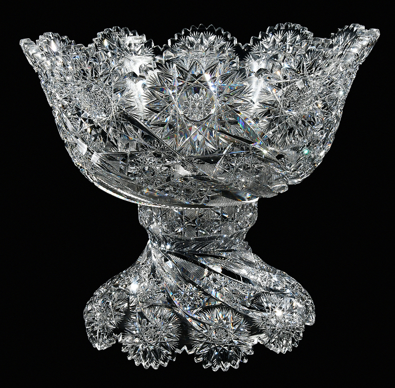 Libbey Brilliant Period Punch Bowl