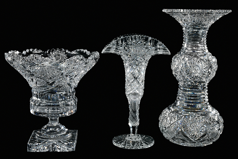 Brilliant Period Cut Glass Vases